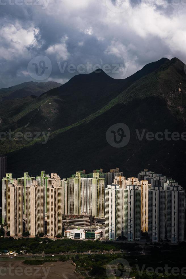 edificio residenziale a hong kong foto