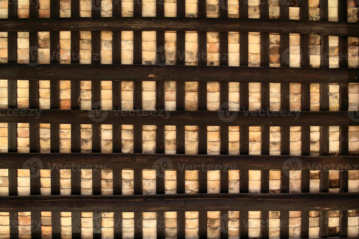 sfondo del tetto della vecchia casa cinese foto