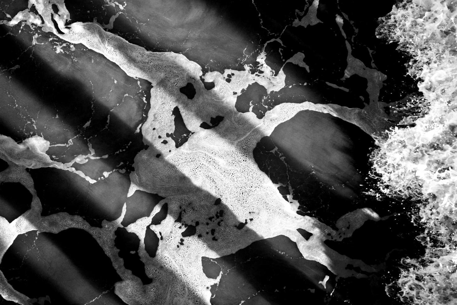 vista astratta di texture in bianco e nero foto