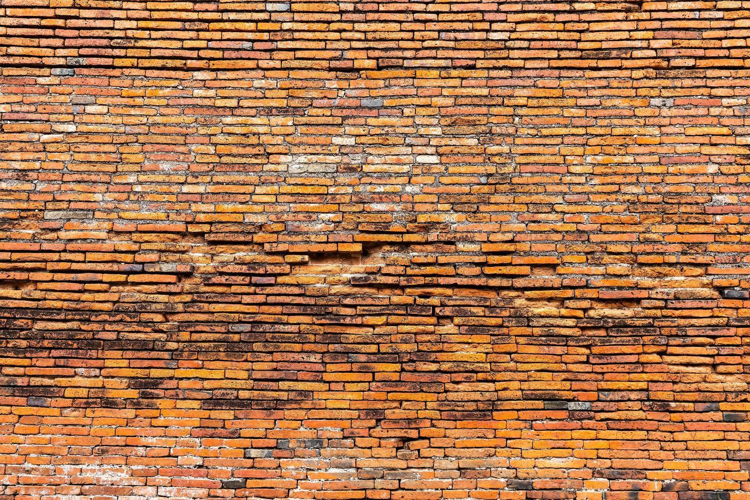trama di muro di mattoni foto
