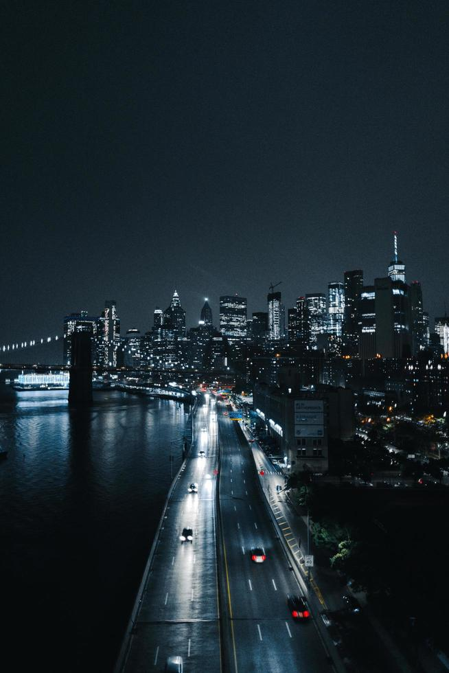 traffico stradale della città foto