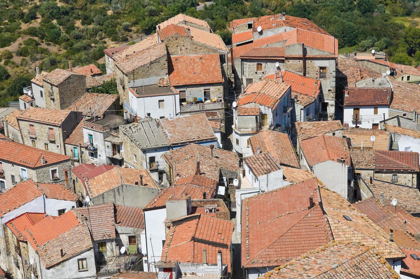 vista panoramica della valsinni. basilicata. Italia. foto