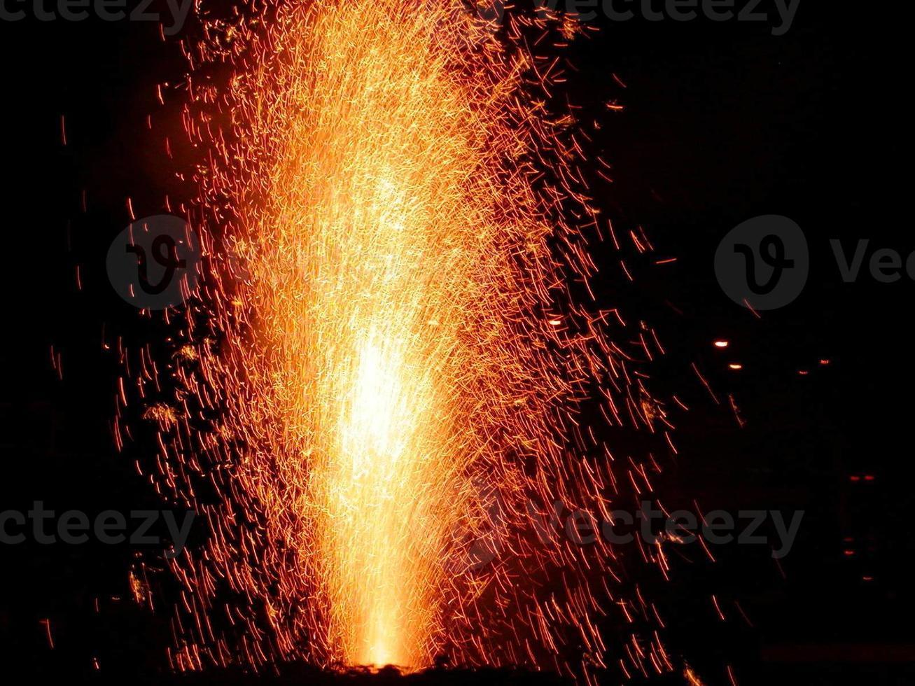 candela di fuochi d'artificio foto