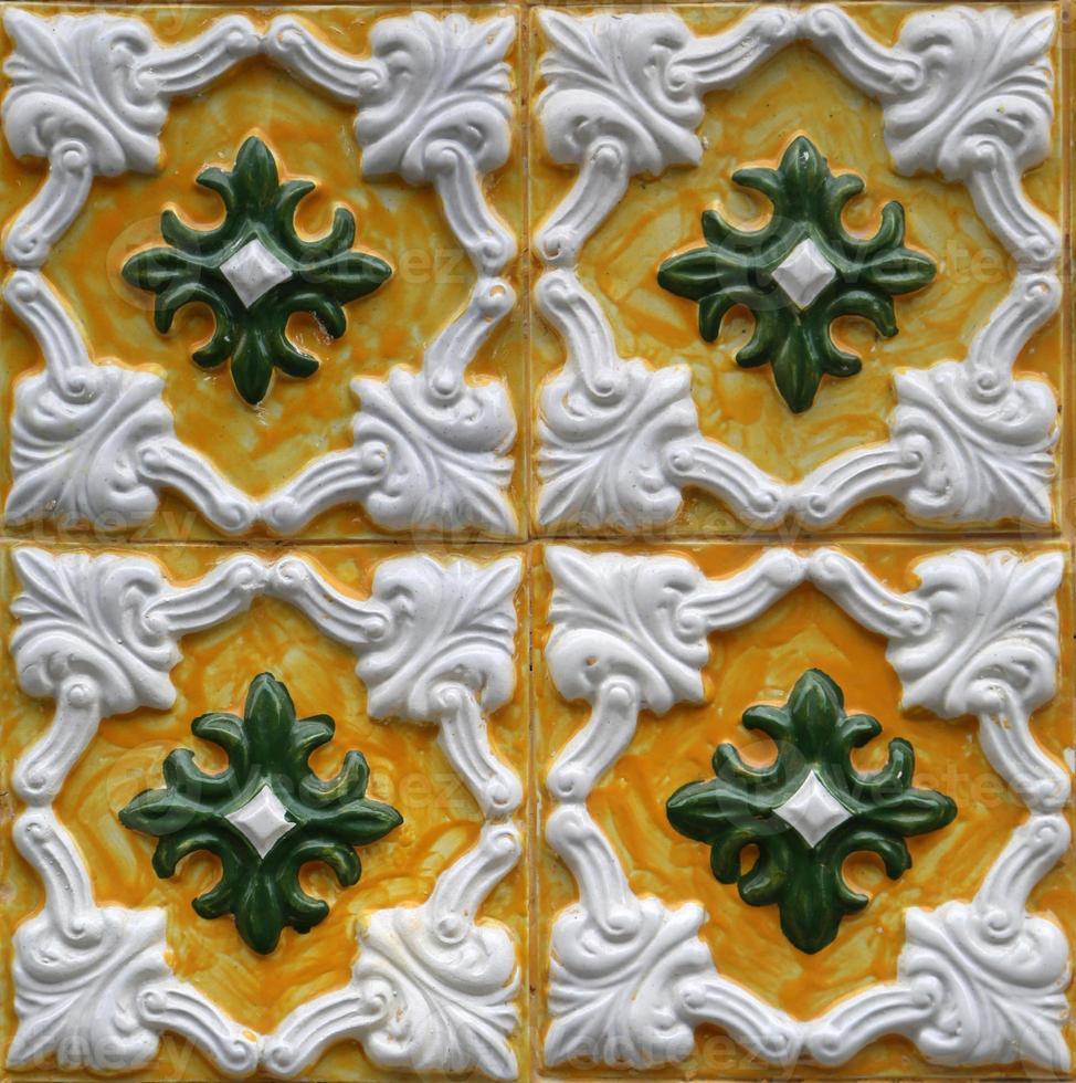 piastrelle tradizionali da porto, portogallo foto