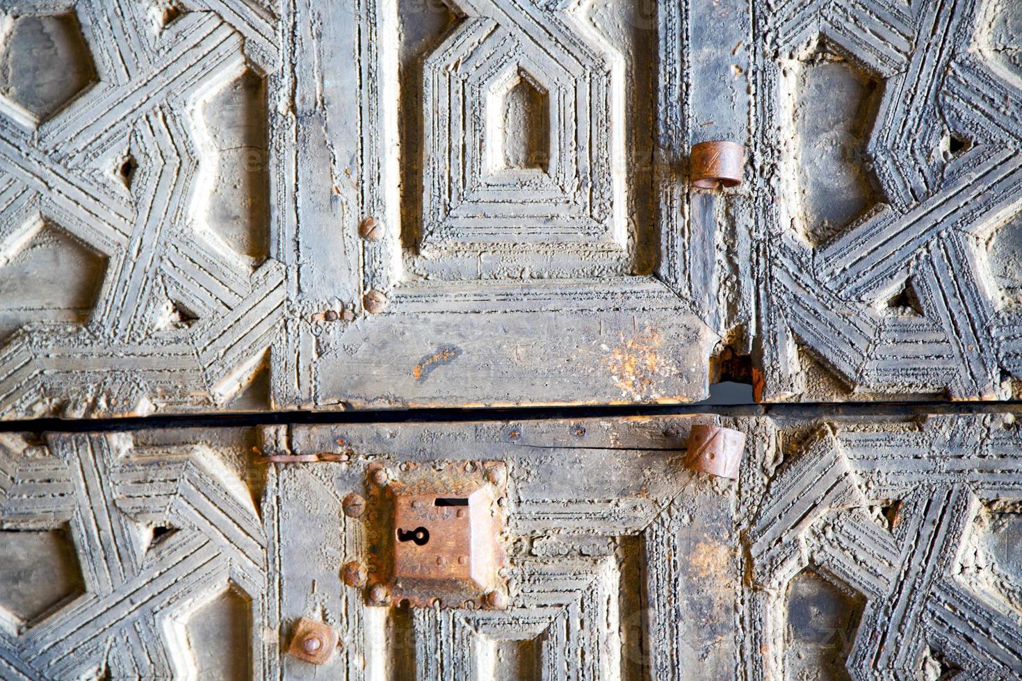 marocco marrone arrugginito in africa facciata casa e cassaforte foto