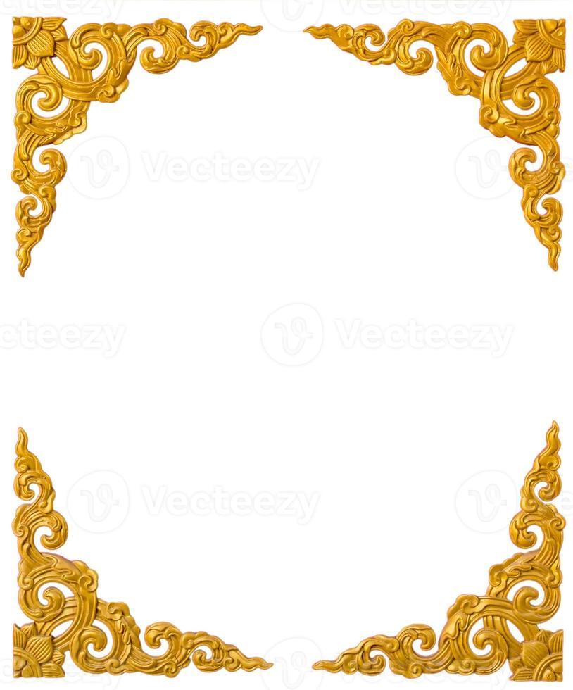 texture oro dalla porta nel tempio thailandese-cinese. foto