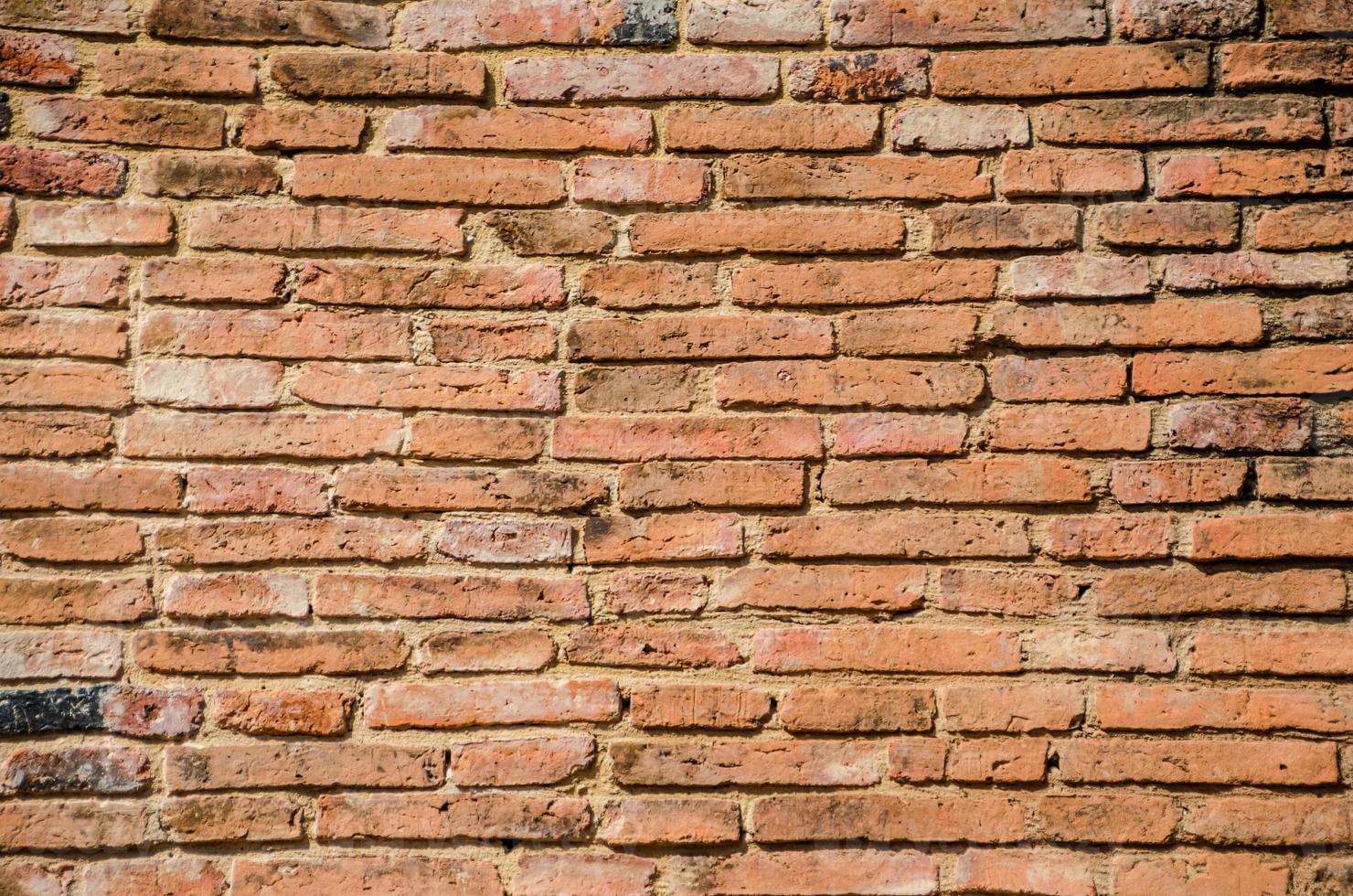 antico muro di mattoni foto