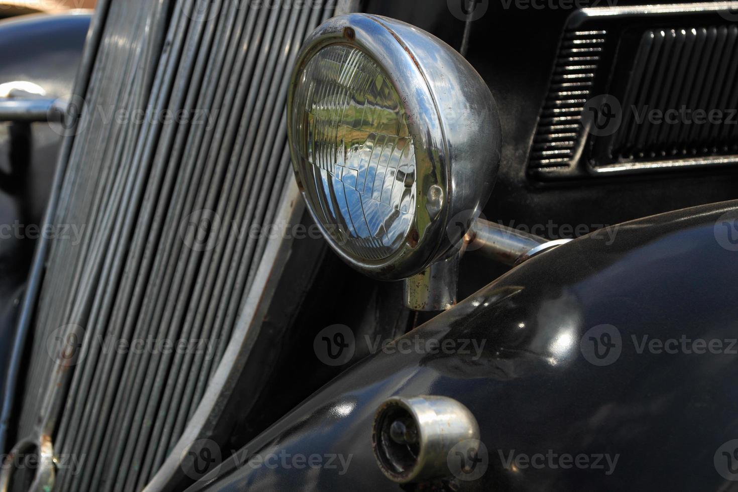 auto d'epoca nera foto