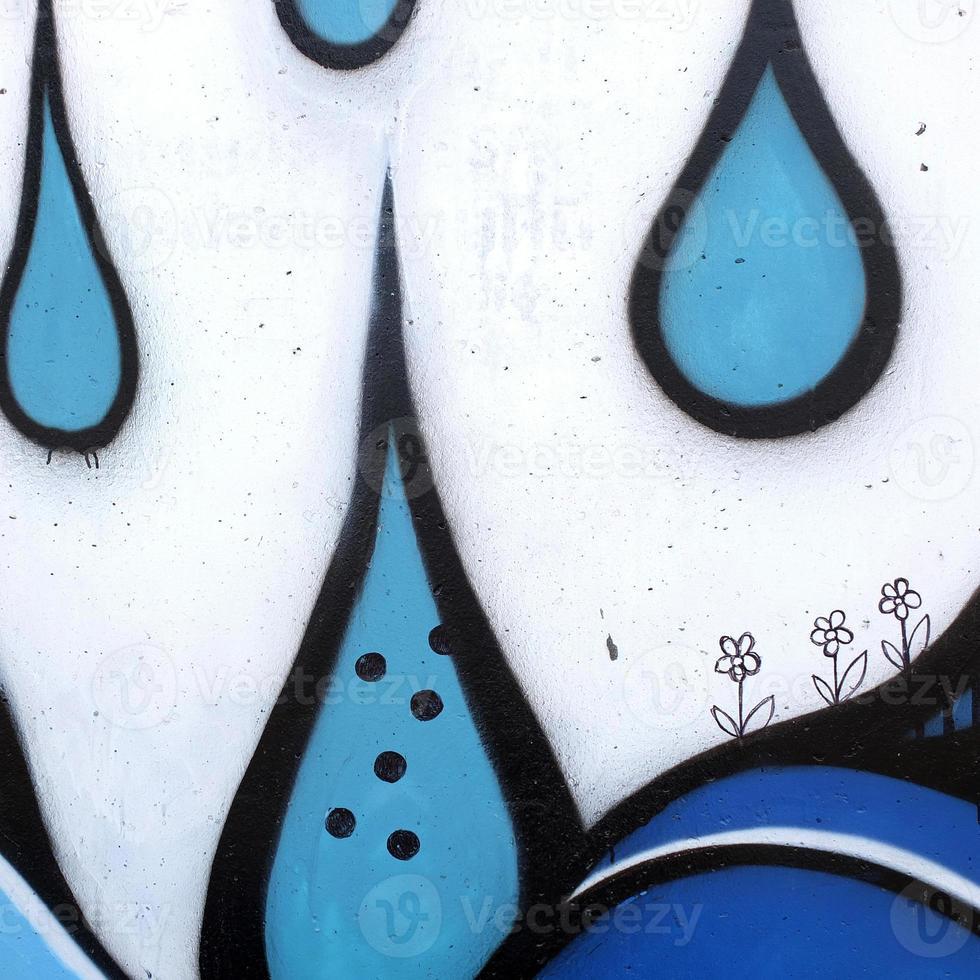graffiti sul muro foto
