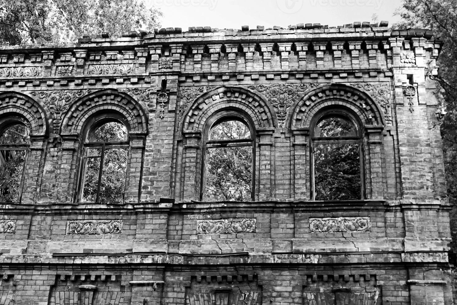 vecchio edificio in rovina, Kiev, Ucraina foto