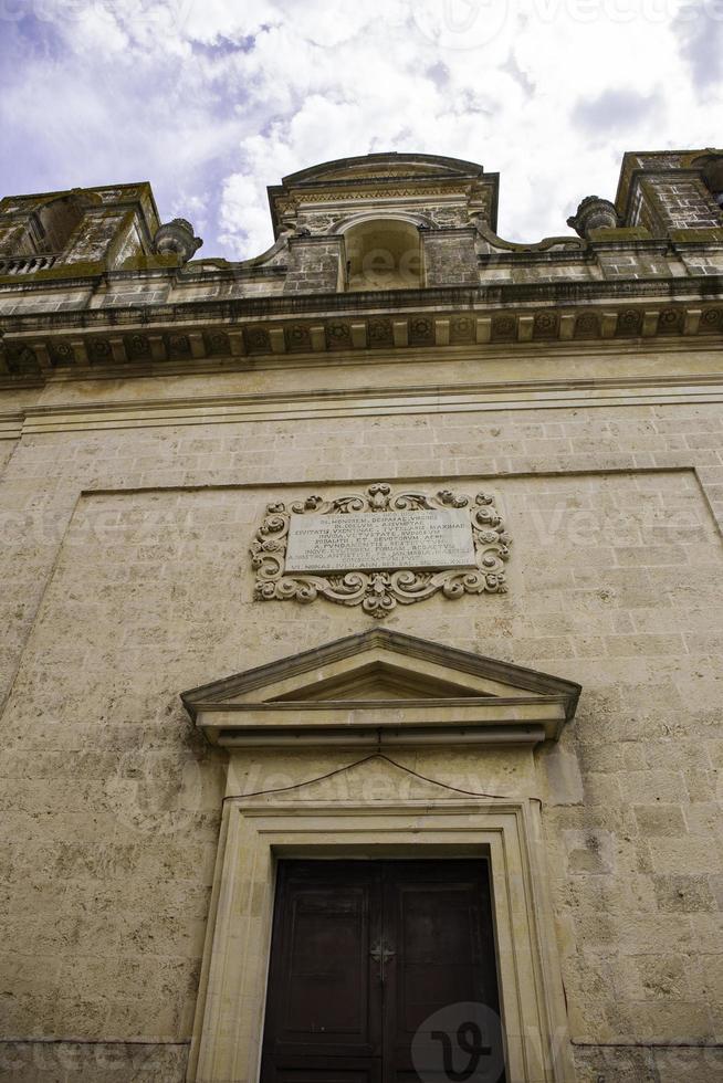 facciata chiesa della madonna assunta e di san biagio, ugento foto