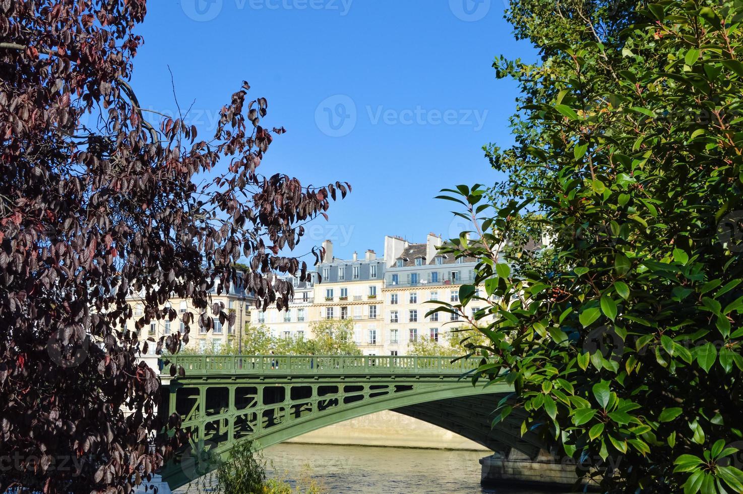 fiume siene a parigi con barche doacking foto