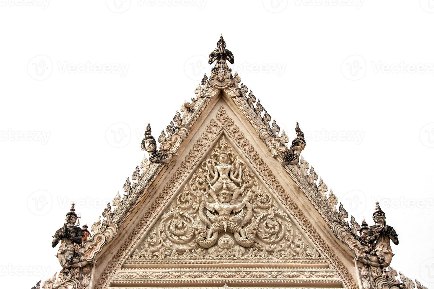 arco antico del tempio tailandese a petchaburi, tailandia foto