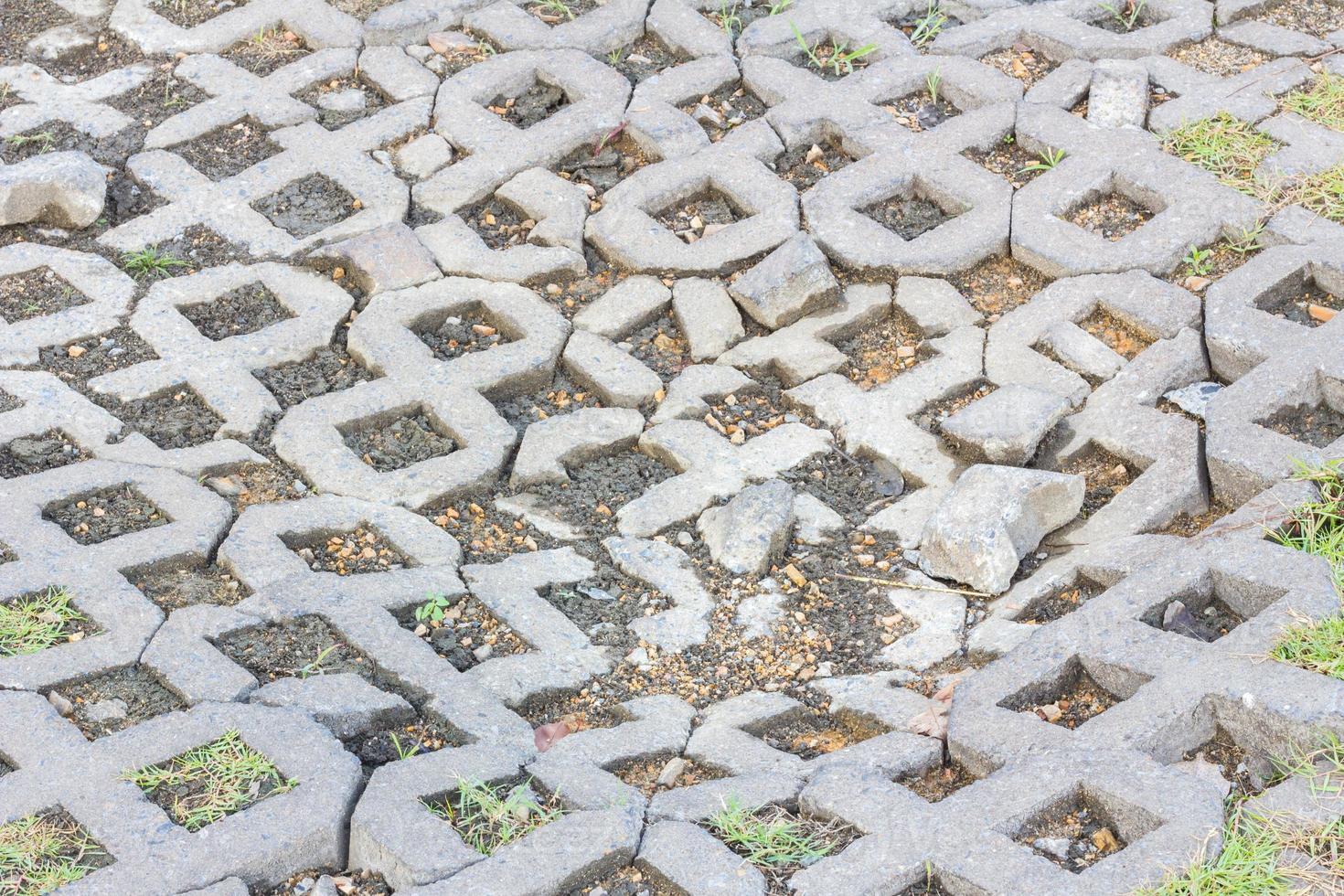 superficie di un mattone di cemento rotto foto