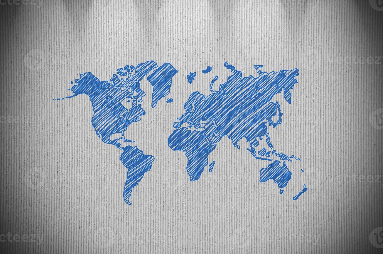 mappa del mondo foto