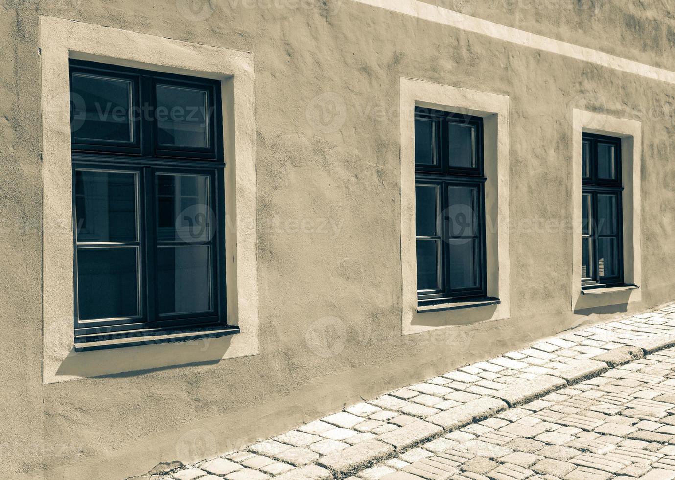 finestre presso l'edificio foto