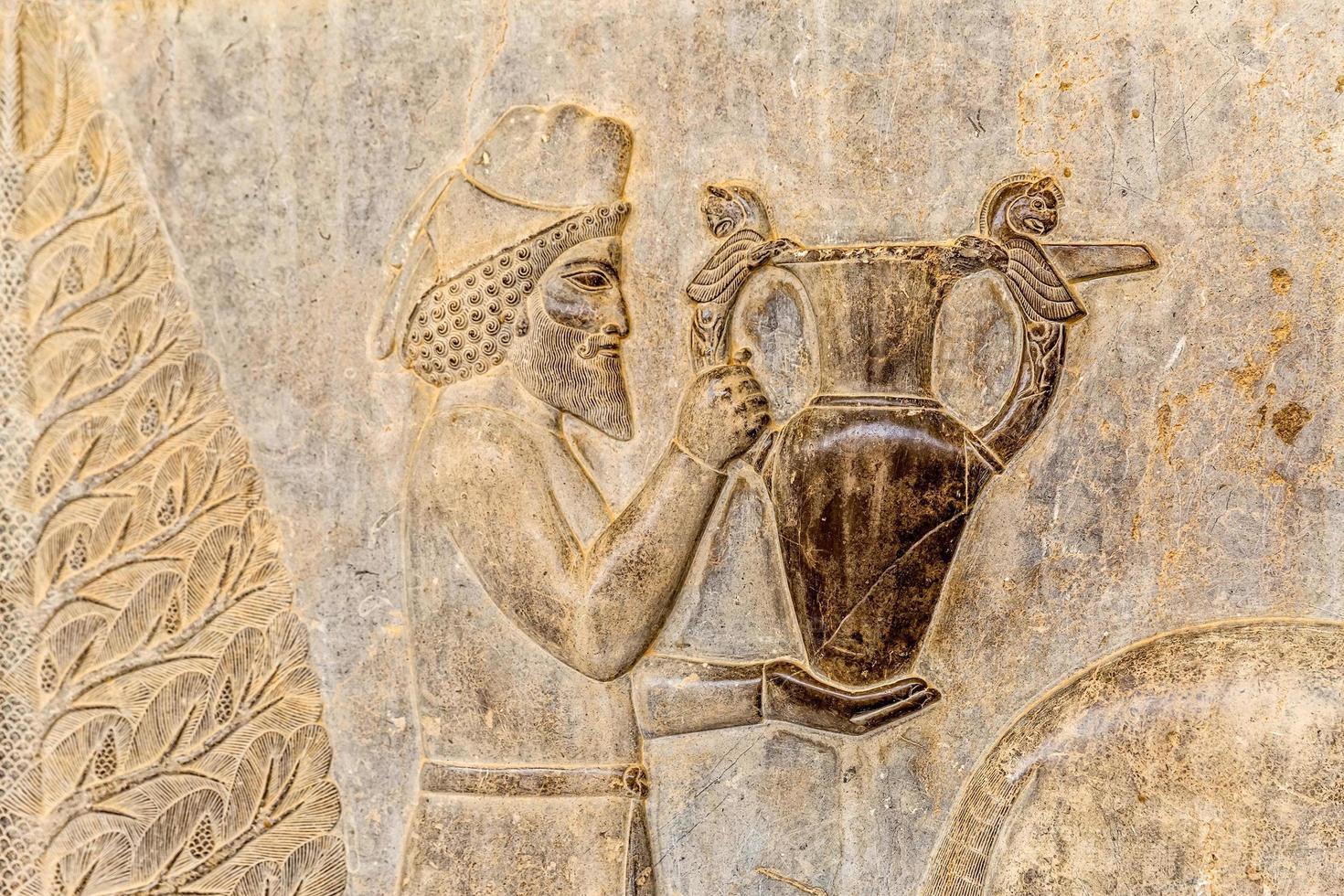 tributo armeno dettaglio rilievo persepolis foto