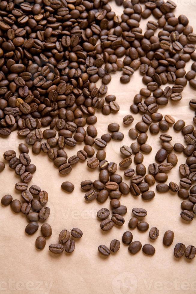 sfondo di caffè su una carta da vicino foto