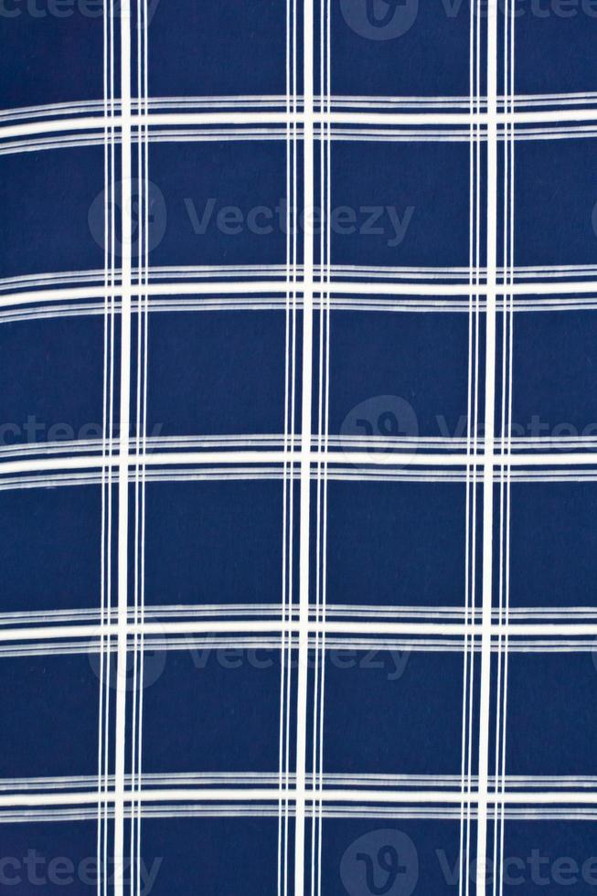 sfondo trama di cotone blu e bianco foto