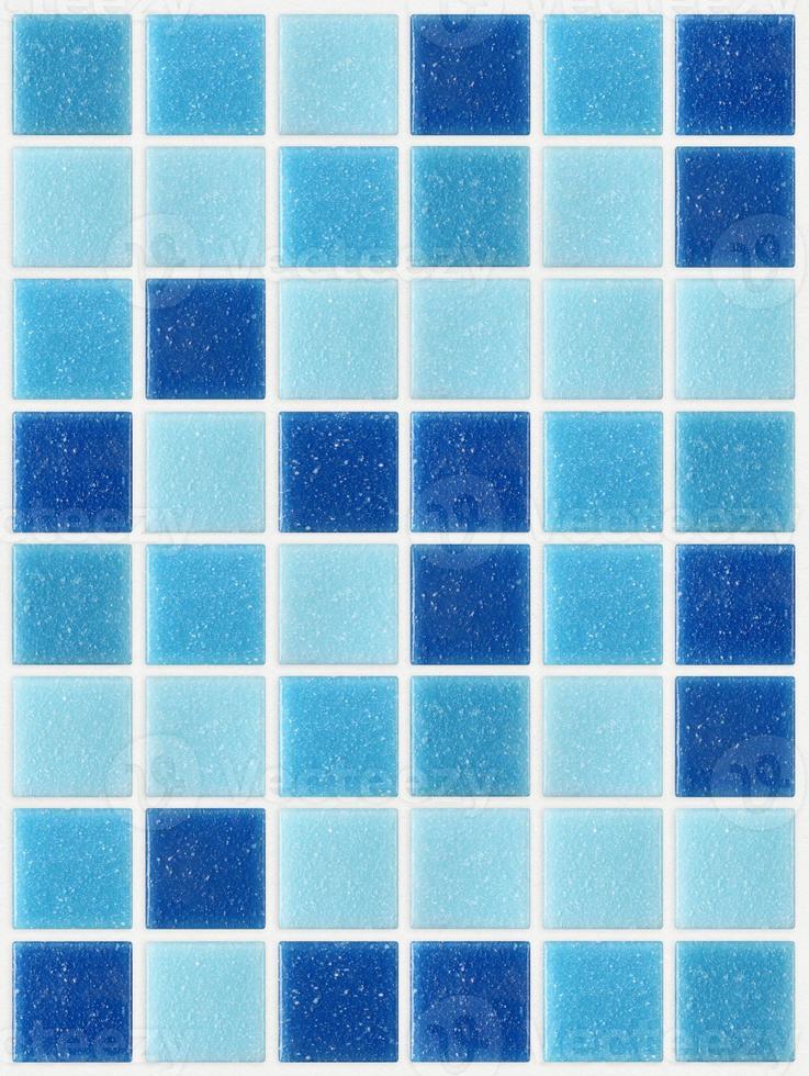 piastrella mosaico quadrato blu trama sfondo decorato glitter foto