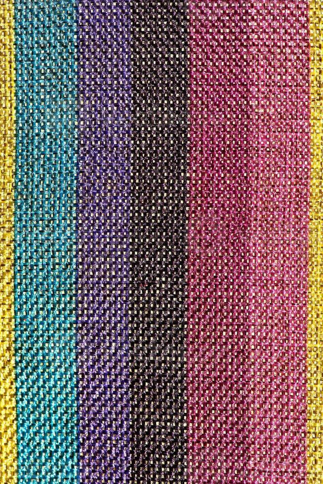 superficie colorata tappeto in stile peruviano tailandese close up. foto