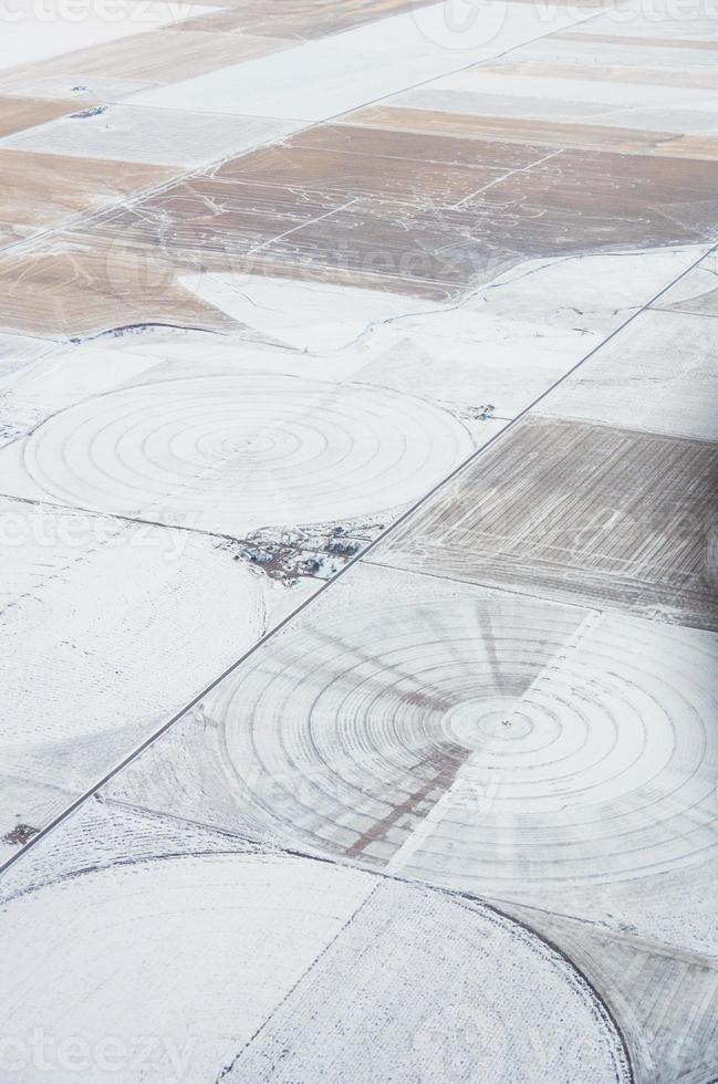 vista aerea dei cerchi di irrigazione foto