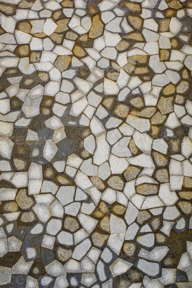 sfondo di mosaico di piastrelle marroni, bianche, grigie. foto