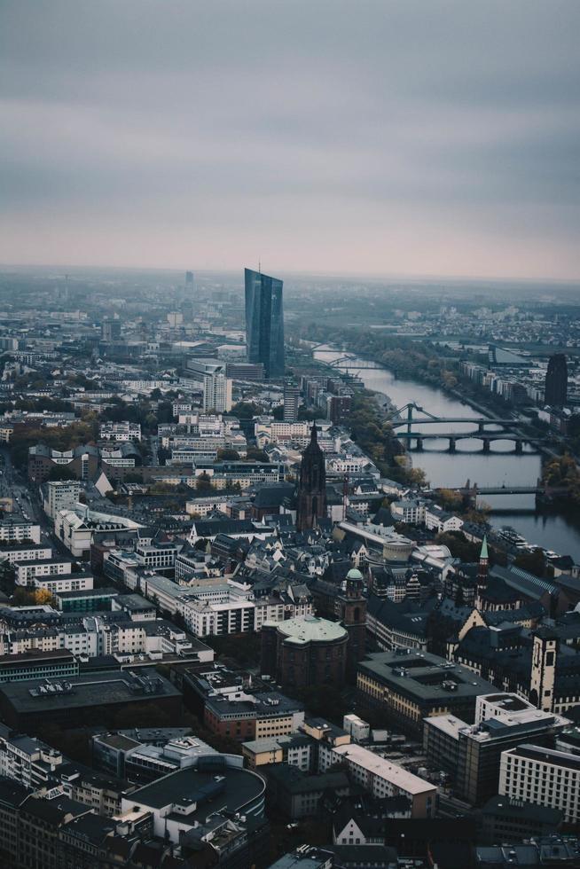vista aerea di grattacieli foto
