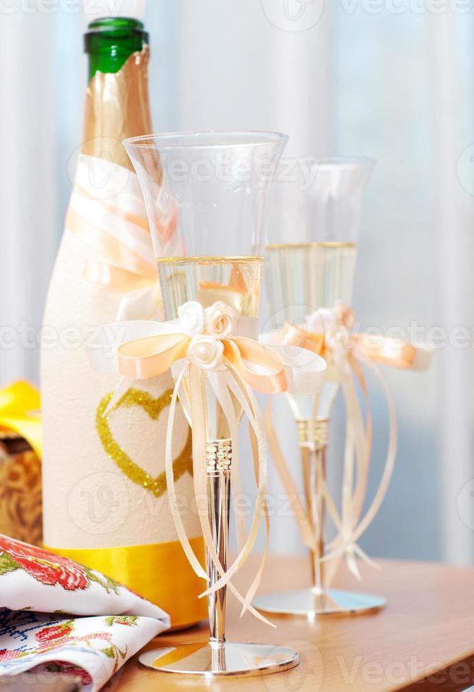 bicchieri da sposa foto