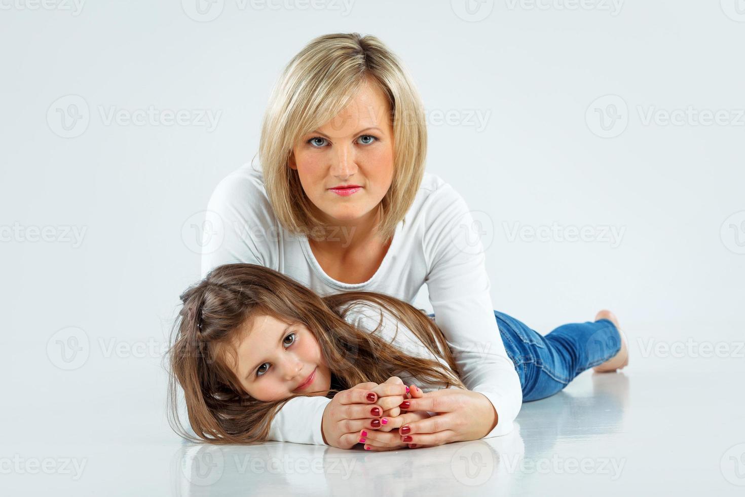 madre con la sua bambina foto