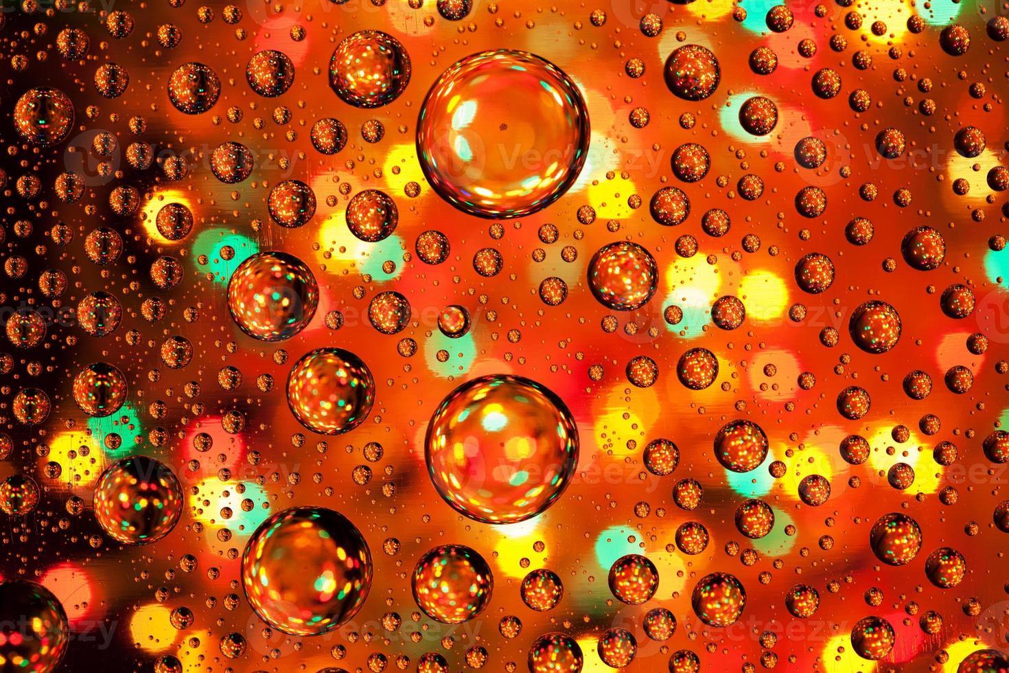 texture di sfondo astratto gocce d'acqua e arte luce foto