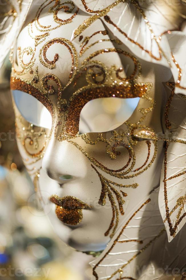 primo piano maschera di carnevale veneziano foto
