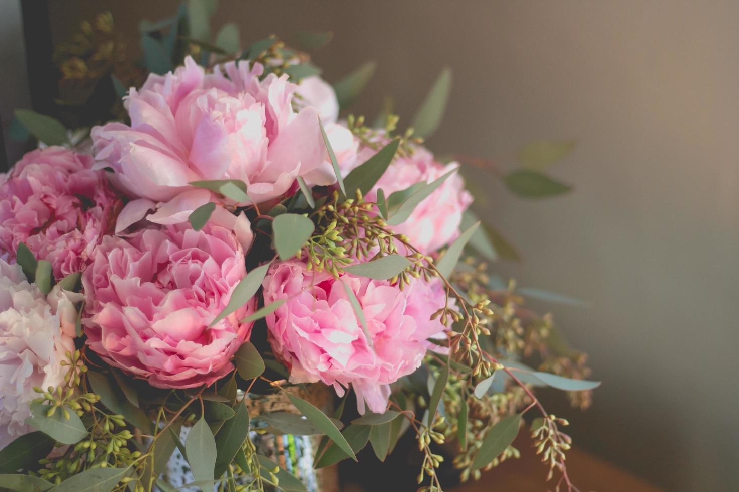 primo piano di un bouquet foto
