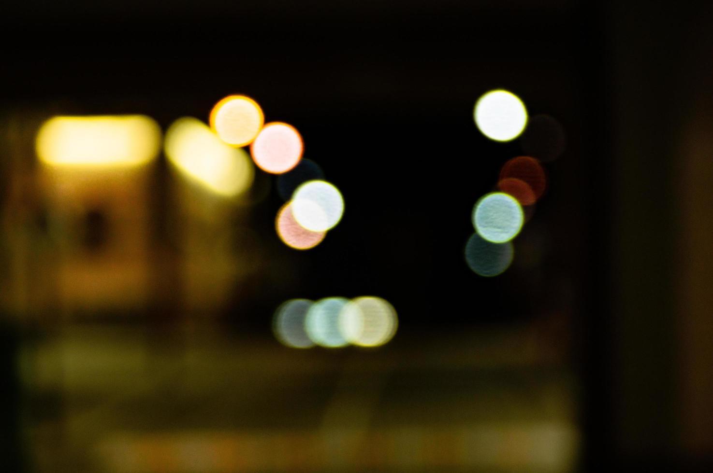 luci sfocate della città foto