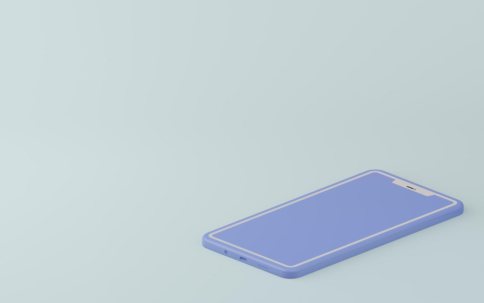 cellulare monocromatico blu pastello foto