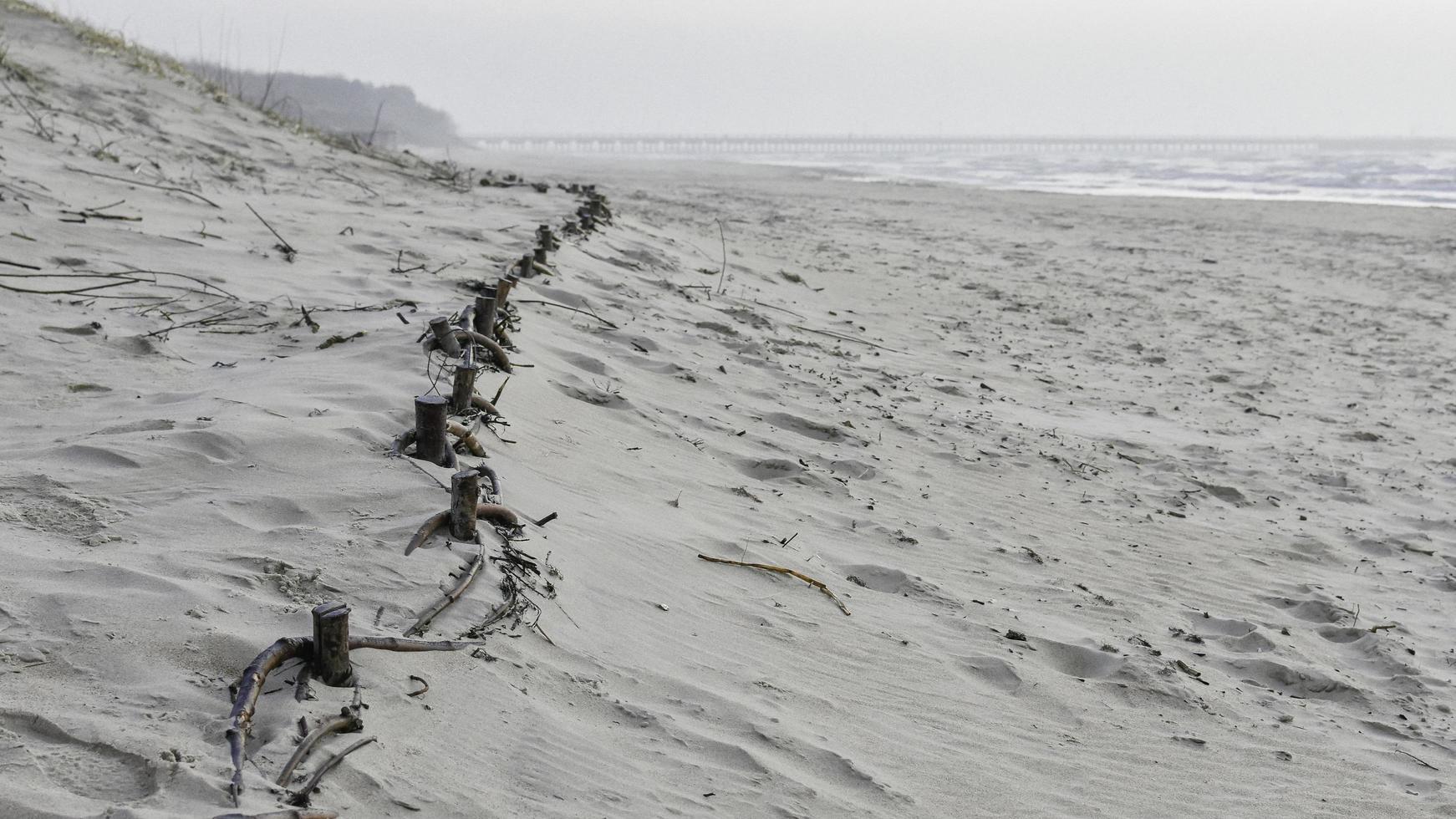 dune di sabbia sulla spiaggia foto