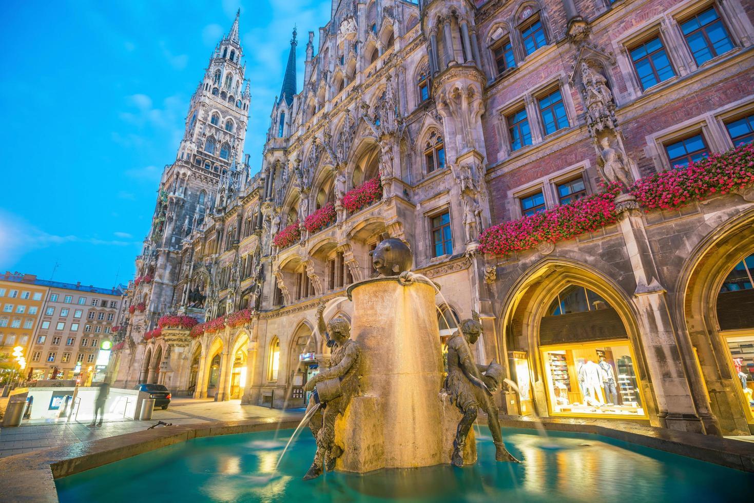 Marienplatz municipio foto
