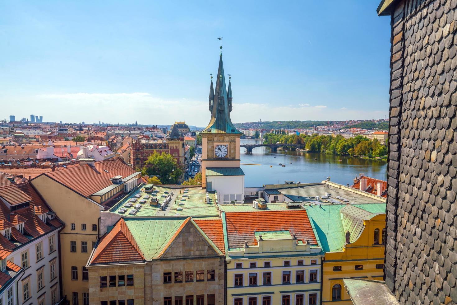 skyline della città di praga dall'alto foto