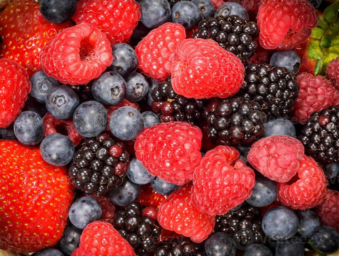 sfondo di frutti di bosco mix foto