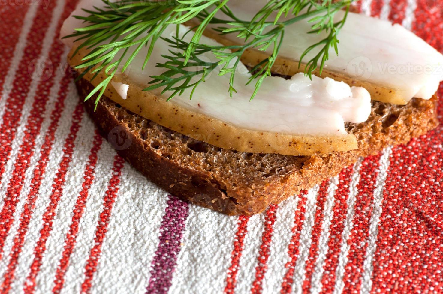 panino con lardo salato foto
