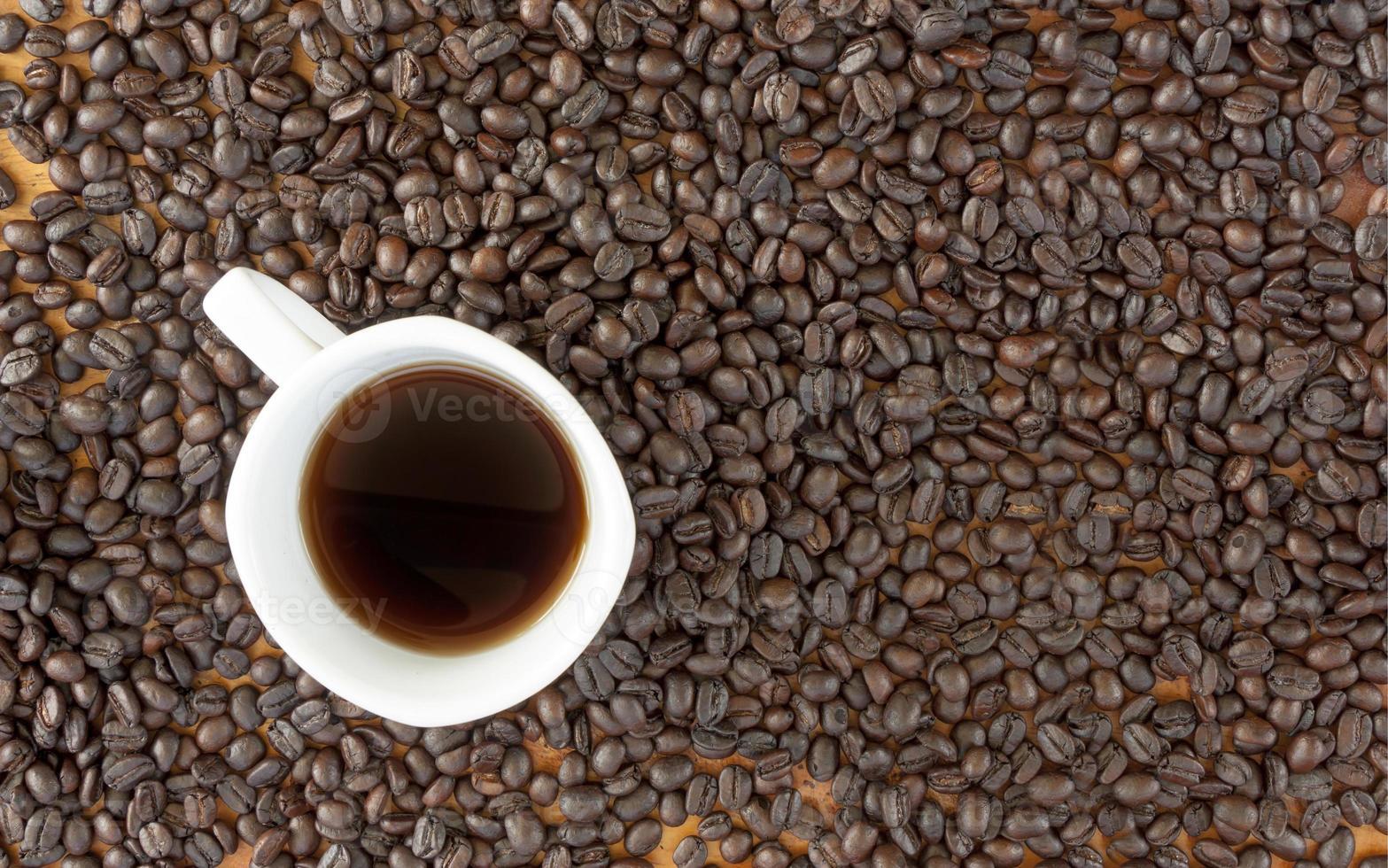 chicco di caffè e tazza foto