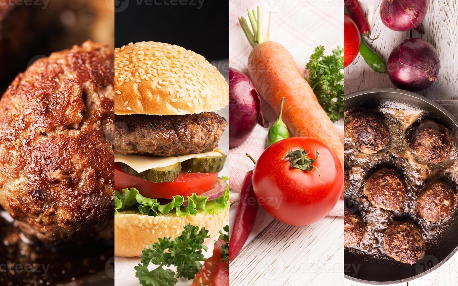 carne e verdure foto