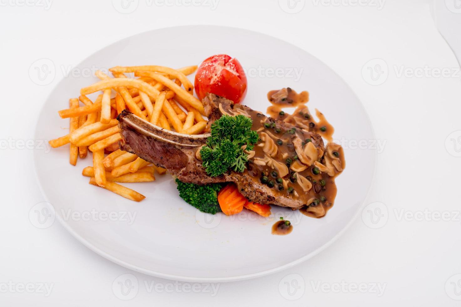 braciola di maiale fritta foto