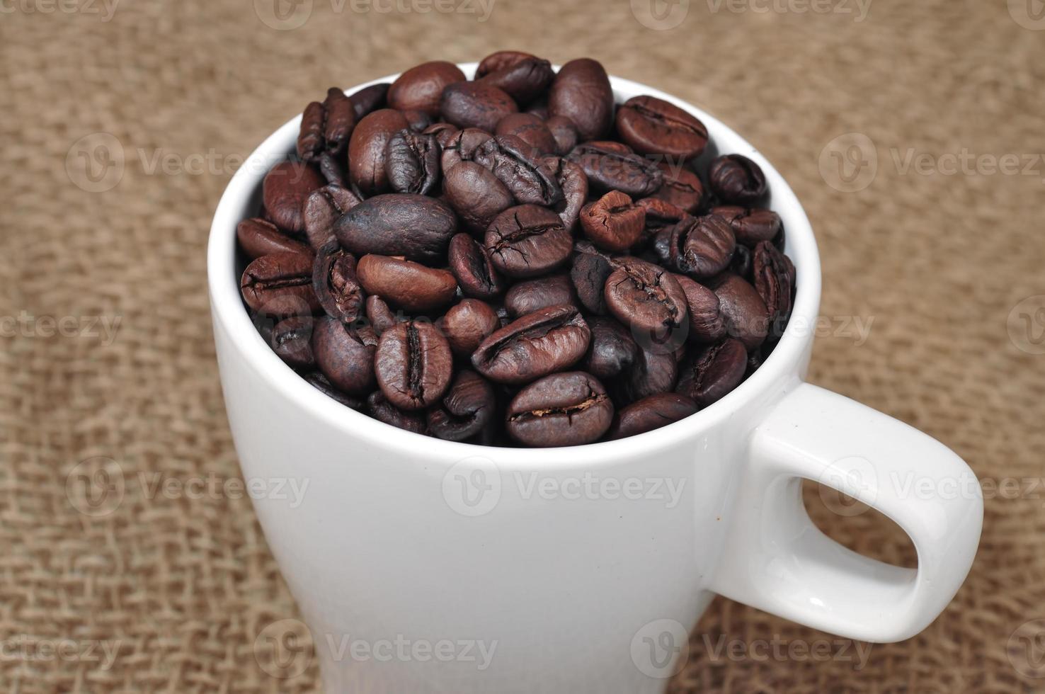 chicco di caffè in tazza foto