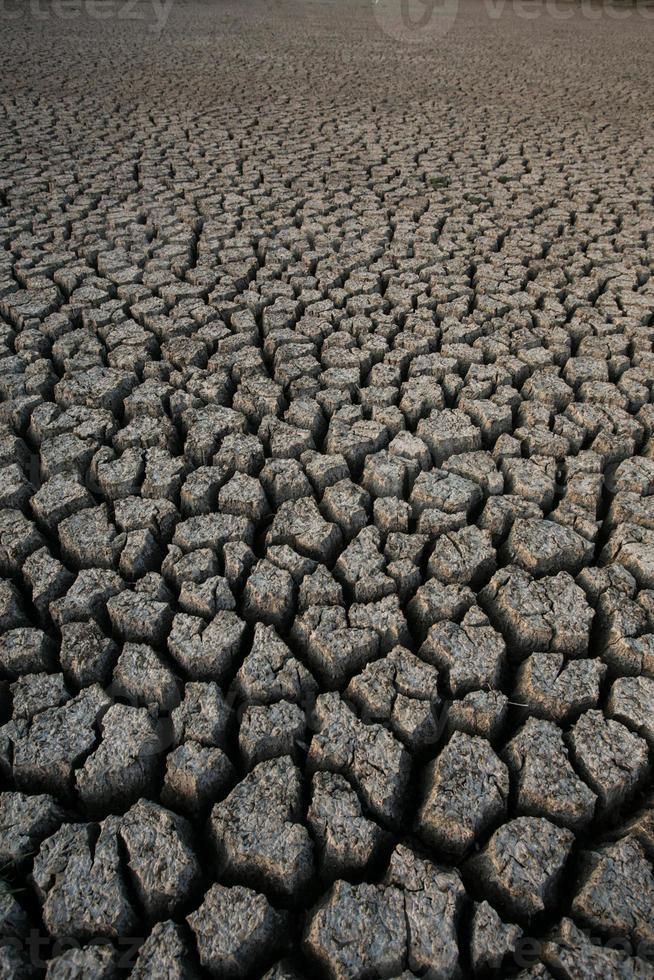 sfondo di sporco secco del suolo incrinato foto