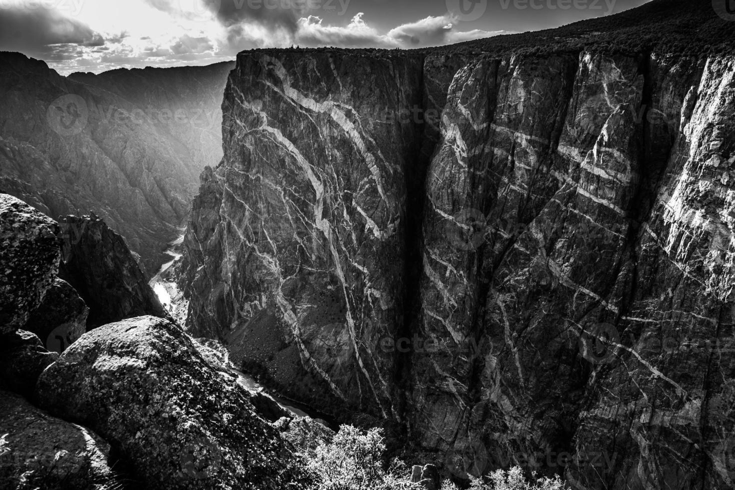 canyon nero del parco nazionale di gunnison foto