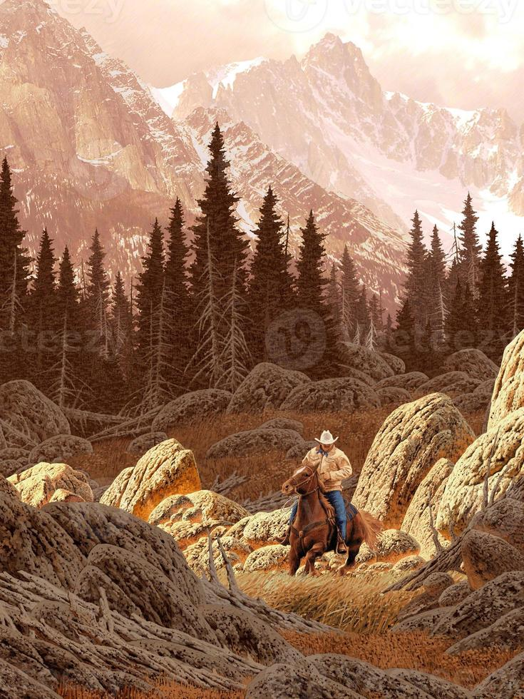 cowboy montana foto