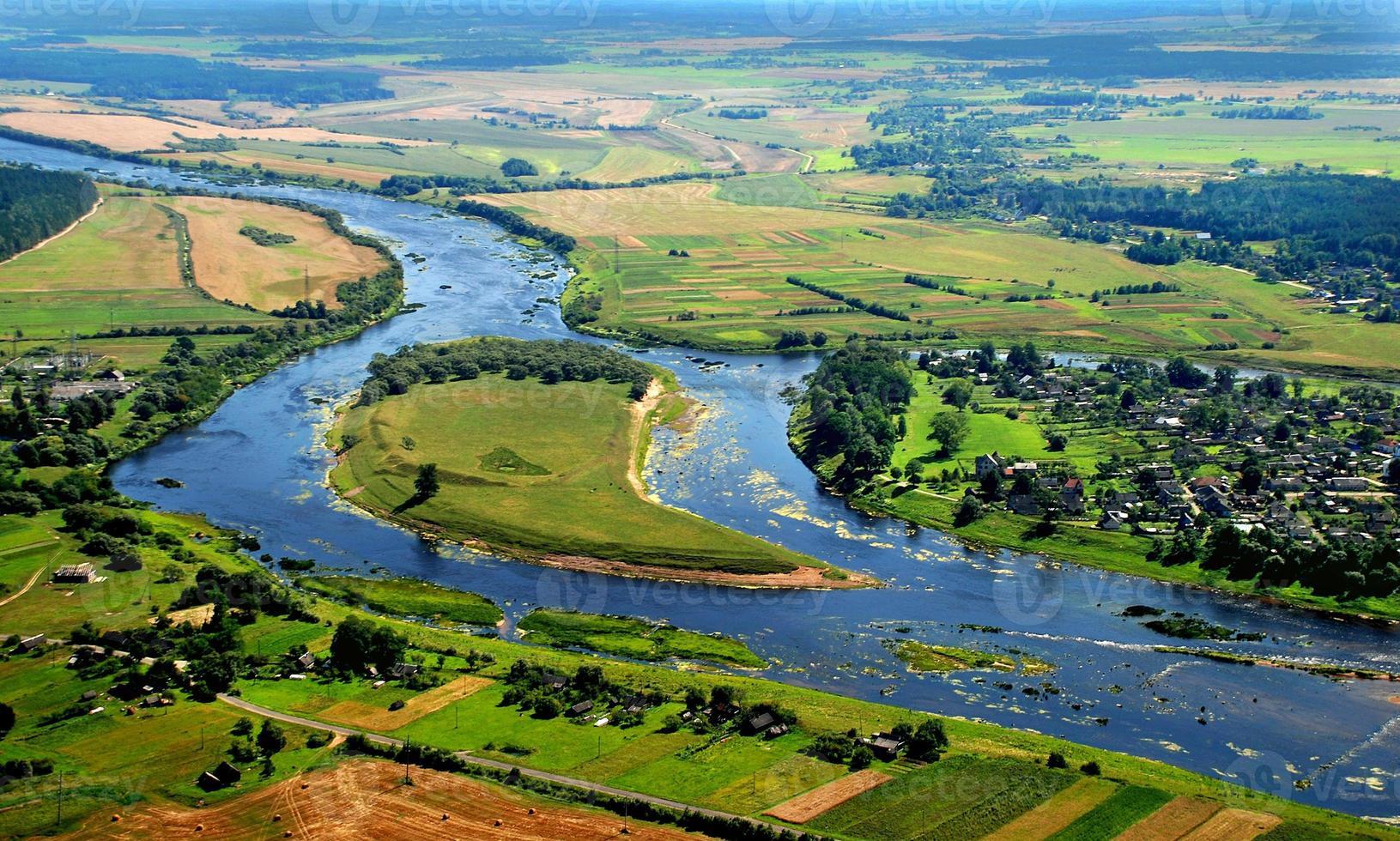 fotografia aerea - il fiume foto