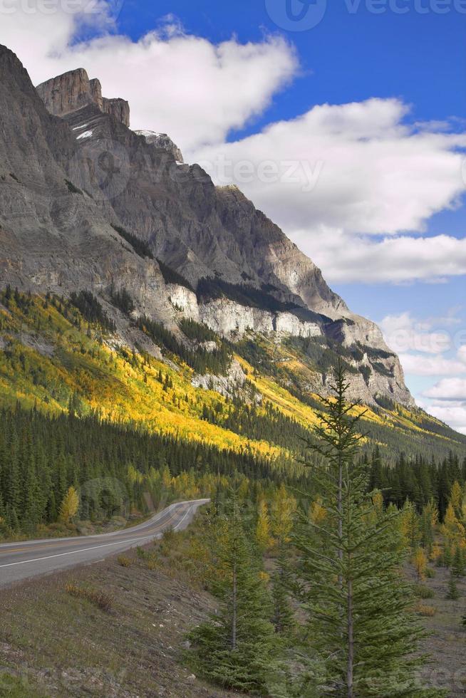 strada di montagna in autunno. foto