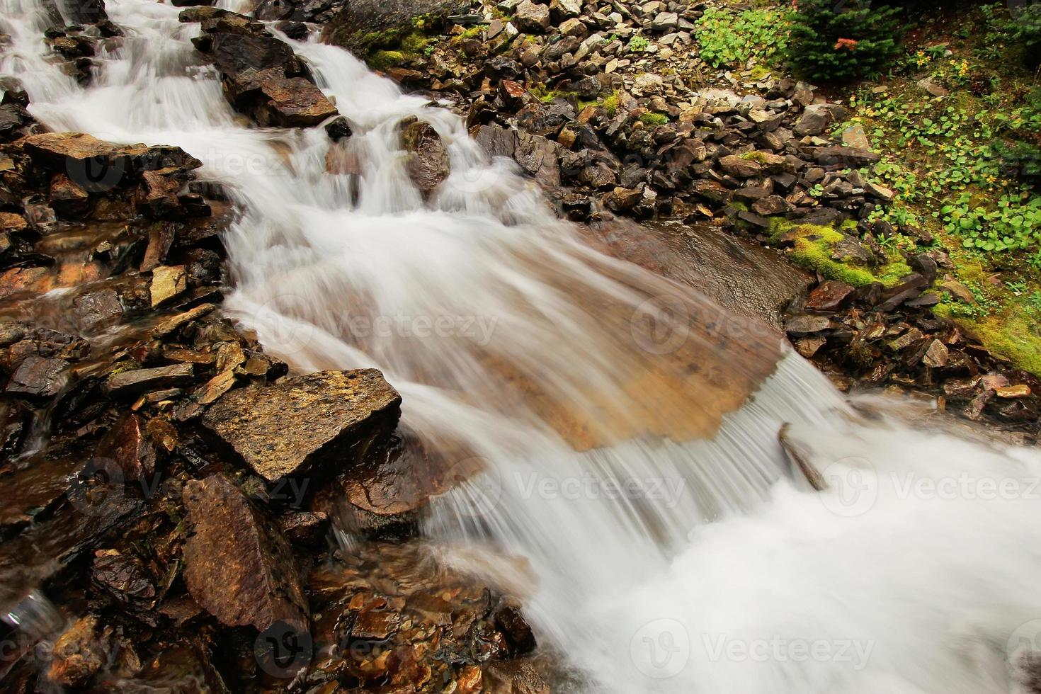 Seven Veils Falls, Lago O'Hara, Parco Nazionale di Yoho, Canada foto
